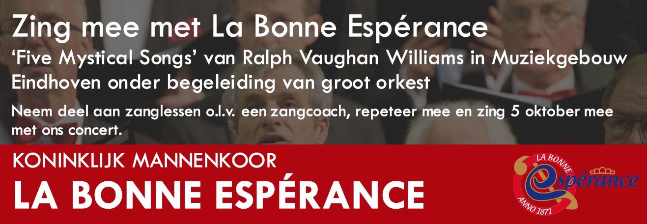 Zing mee met 'La Bonne Esperance'